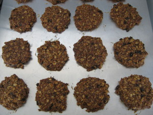 Enjoy vegan banana oatmeal cookies warm off the baking sheet!