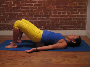Ground yourself with restorative bridge posture