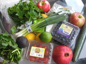 fresh fruits and veggies of the week